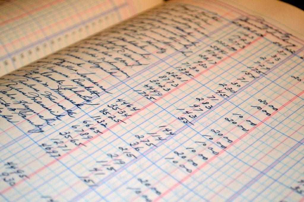 Cálculos en papel cuadriculado